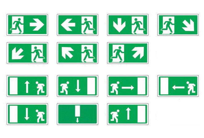 TARGHE E SEGNALETICA DI SICUREZZA: Segnaletica di sicurezza  un design minimalista enti aziende ed uffici, arredamento dinamico, diversi pittogrammi serigrafati